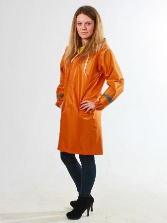 Дождевик тканевый детский оранжевый