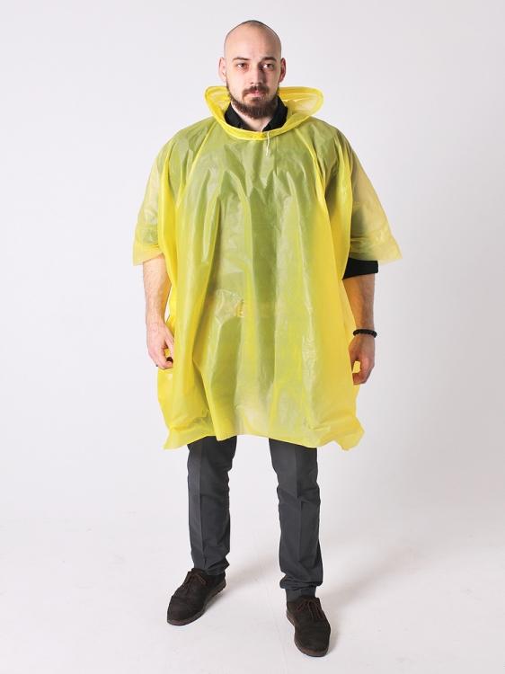 Дождевик пончо виниловый жёлтый