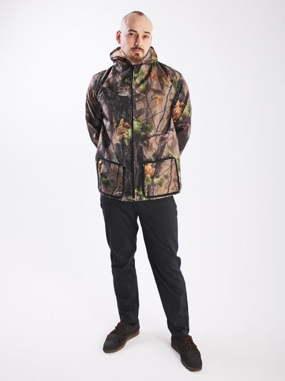 Дождевик куртка универсальная с карманами лес