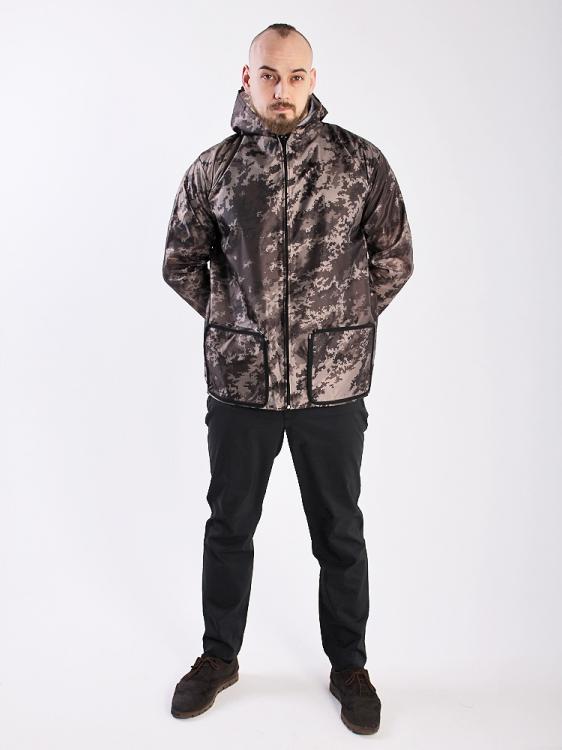 Дождевик куртка универсальная с карманами пиксель
