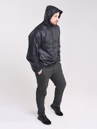 Куртка анорак с капюшоном и карманом кенгуру_0
