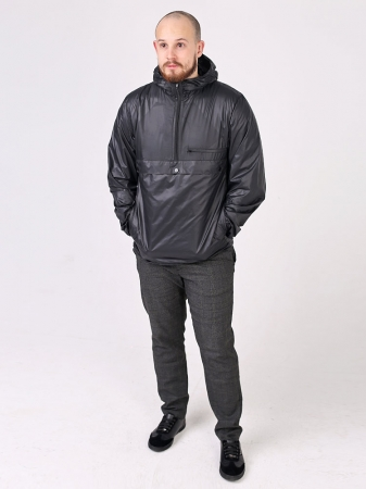 Куртка анорак с капюшоном и карманом кенгуру_1