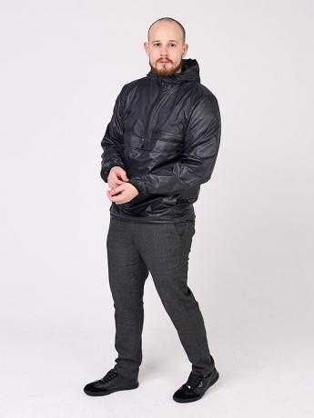 Куртка анорак с капюшоном и карманом кенгуру_2