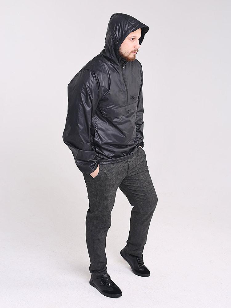 Куртка анорак с капюшоном и карманами кенгуру