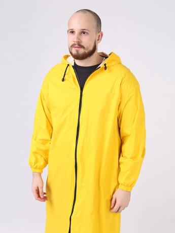 Дождевик Ultra непромокаемый стильный на молнии желтый мужской