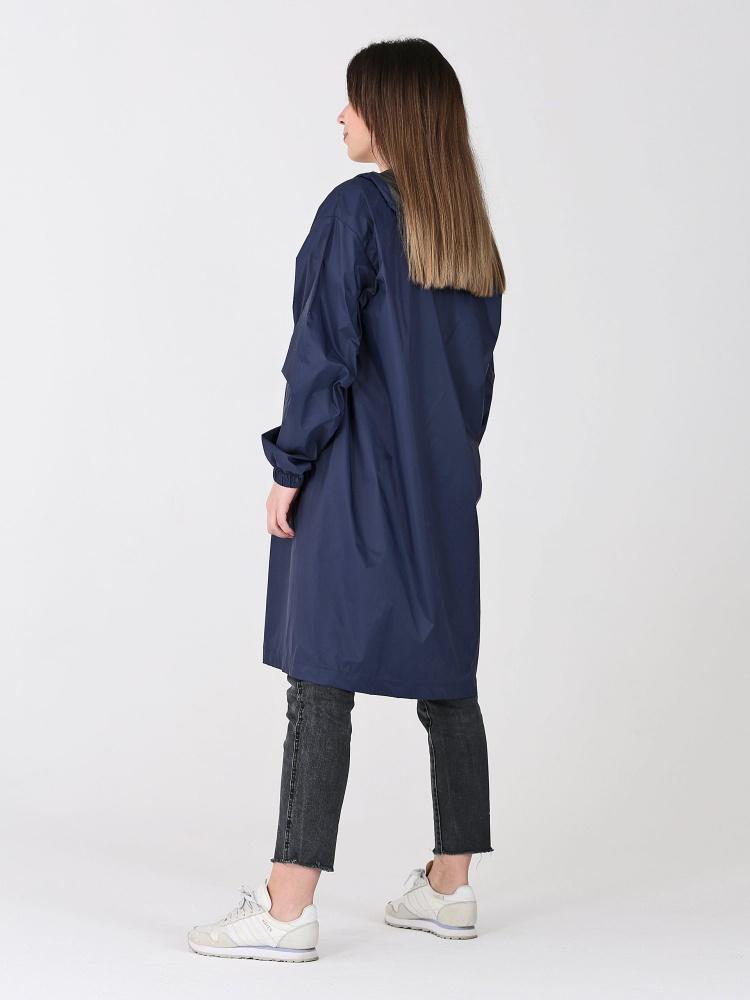 Дождевик Ultra непромокаемый стильный на молнии тёмно-синий женский