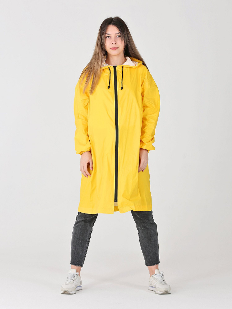 Дождевик Ultra непромокаемый стильный на молнии желтый женский
