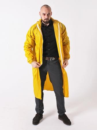Дождевик тканевый жёлтый_6