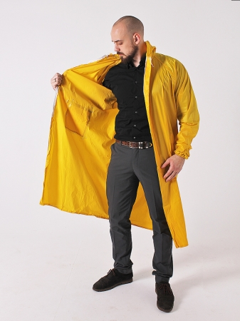 Дождевик тканевый жёлтый_2