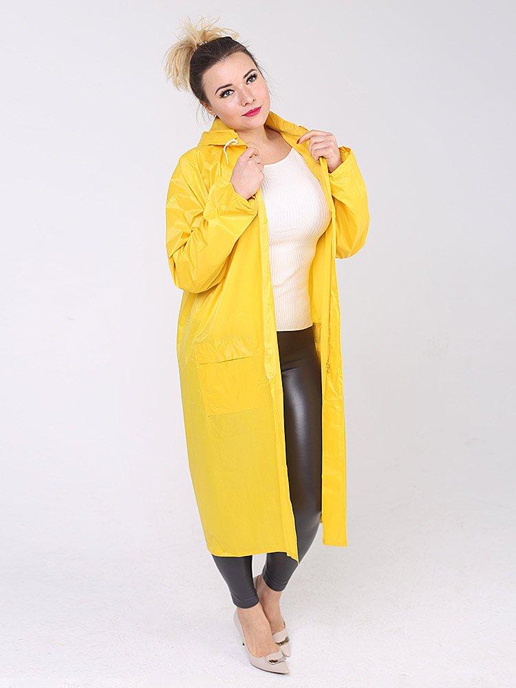 Дождевик тканевый жёлтый женский