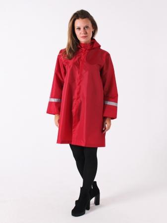 Дождевик куртка детский яркий со светоотражателями бордо