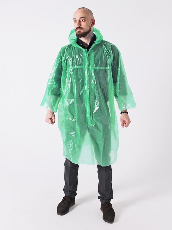 Дождевик плотный универсальный зеленый