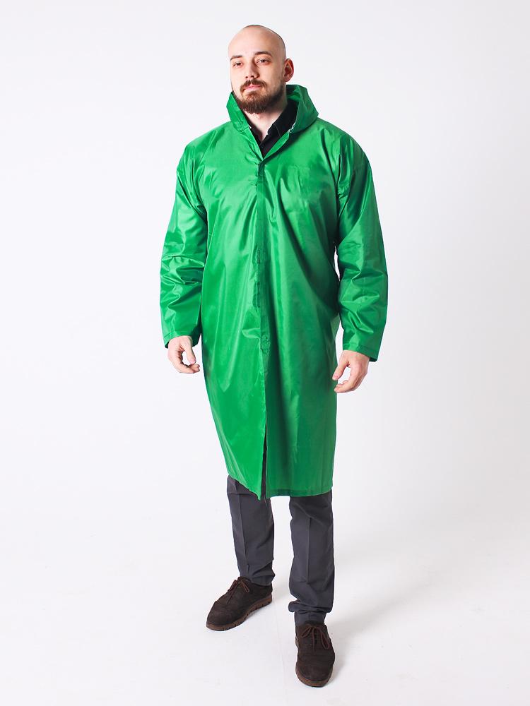 Дождевик тканевый Оксфорд мужской зелёный