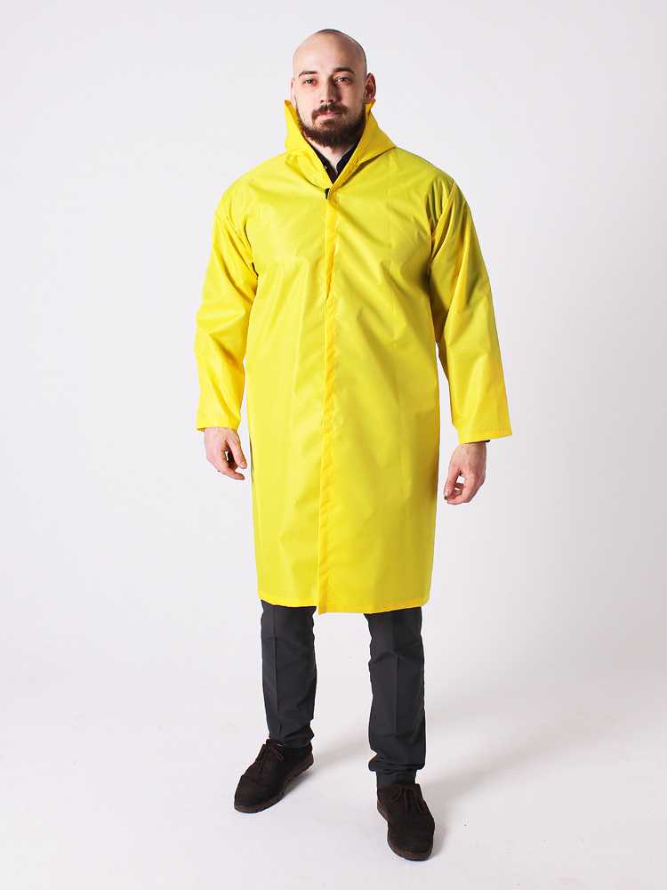 Дождевик тканевый Оксфорд мужской желтый