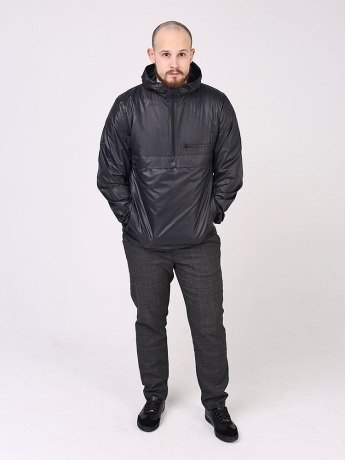 Куртка анорак с капюшоном и карманом кенгуру_4